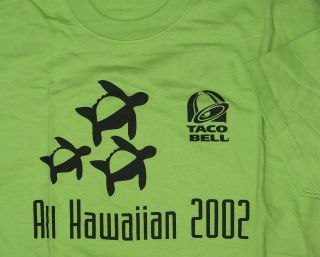 taco bell all hawaiian 2002 turtle honu t shirt l