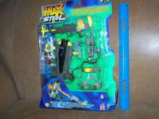 mattel 2000 max steel canyon raider mission pack nip time