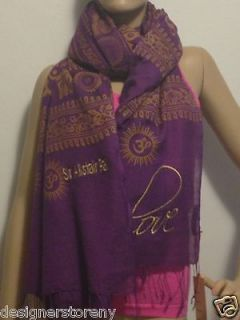 sir alistair rai om mantra love plum scarf