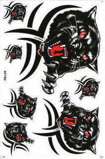 PK_STA69 Black Tiger Sticker Decal Motorcycle Car bike motocross