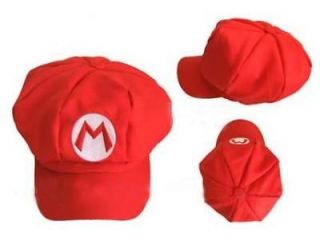 New Super Mario Bros Hat Cap Red Xmas Cosplay ( Child Size )