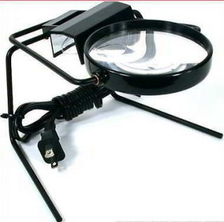 HOBBY LIGHT UP TABLE TOP LIGHTED ILLUMINATED MAGNIFIER GLASS MAGNIFYER