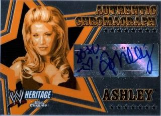 WWE Ashley 2006 Topps Heritage Chrome Chromagraph Authentic Autograph
