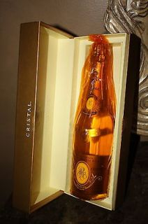 2002 LOUIS ROEDERER CRISTAL CHAMPAGNE IN GIFT BOX PERFECT BOTTLES