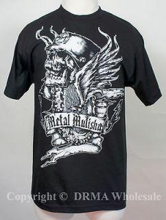 Authentic METAL MULISHA Flywheel Skull T Shirt S M L XL XXL NEW