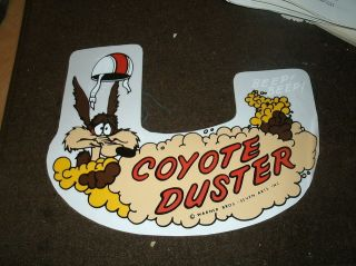 1970 PLYMOUTH DUSTER COYOTE DUSTER FACTORY AIR CLEANER TOP LID DECAL