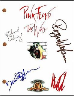 The Wall Signed Movie Script by 4 Roger Waters Nick Mason Syd Barrett