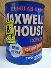 vintage maxwell house coffee tin two pound enlarge buy it