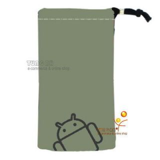 Gray Android Velvet Pouch Bag Case For Sony Xperia Arc S neo ZTE V880E