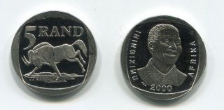 south africa nelson mandela r5 pl proof like coin rare