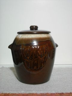 mccoy pottery brown drip glaze cookie jar 7024 exc time