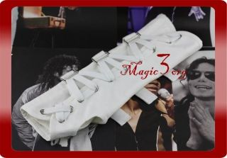 Michael Jackson Black or White Cotton Arm Brace Cast sleeve MJ costume
