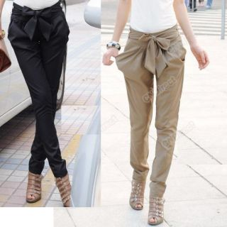 New Sexy Women Fashion Harem Skinny Long Trousers OL Casual Slim Bow