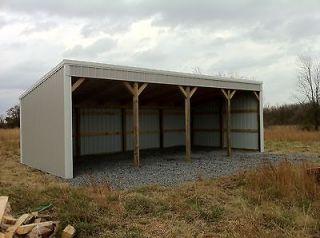 Pole Barn Kit Built In Hay Loft Work Shop Garage Carport