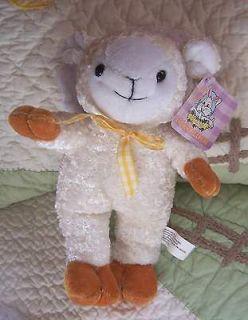 Dollar Tree/Smart Path Lamb/Sheep Stuffed Toy w/Yellow Neck Ribbon Bow