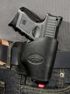 Barsony Black Leather Yaqui Concealment Gun Holster for Beretta Nano