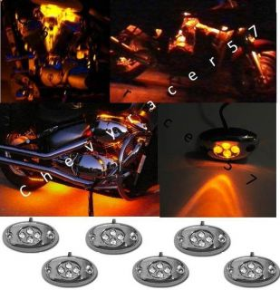 LED CHROME MODULES MOTORCYCLE CHOPPER FRAME NEON GLOW LIGHTS PODS