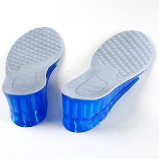 Detachable 2 Layers Height Increasing Gel Insole Taller Insoles +2