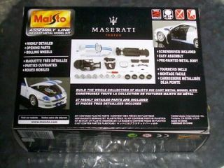 MASERATI TROFEO 1/24 MAISTO   DIE CAST METAL MODEL KIT ASSEMBLY LINE