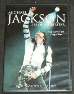 Newly listed MICHAEL JACKSON Life of a Superstar   Biography   DVD