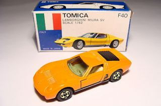 Tomica TOMY No. F40 LAMBORGHINI MIURA SV JAPAN 1/62 ORANGE GIFTSET