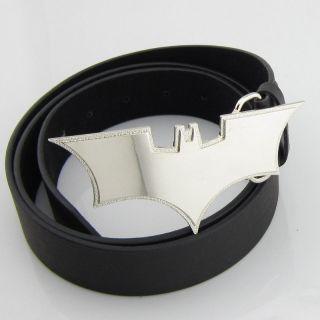 Silver Fashion Superhero Batman Mens Metal Belt Buckle Leather Gift