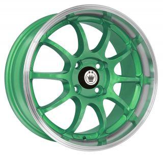 new konig lightning 15x7 4x100 et38 green machine lip