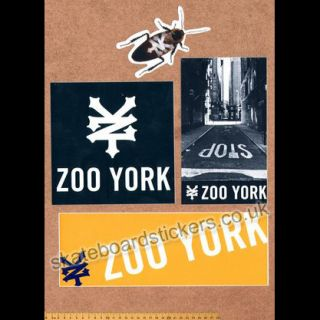 Zoo York Skateboard Stickers Pack   New skate board stickerbomb