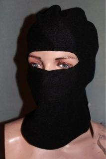 imprescion black fleece ninja ski mask hat full face new