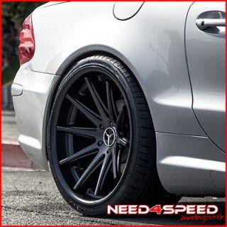 20 MERCEDES BENZ W220 S350 S430 S500 ROHANA RC10 CONCAVE BLACK WHEELS