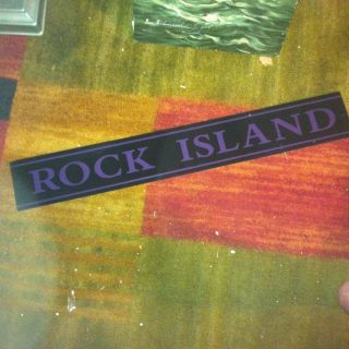 ANTIQUE ROCK CITY REVERSE PAINTED O GLASS SIGN PANEL OLD TICKET BOOTH