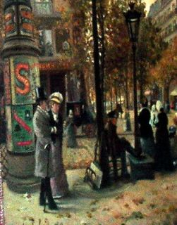 1880 PARIS FRENCH IMPRESSIONISM PAINTING OIL ON CANVAS SIGNED A.LAFOND