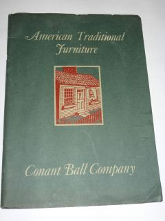 CONANT BALL CO AMERICAN TRADITIONAL FURNITURE CATALOG! MAPLE CHAIRS