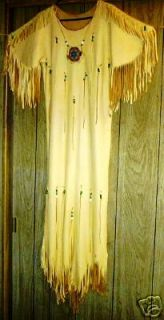 native american regalia dress deer hide small girls time left