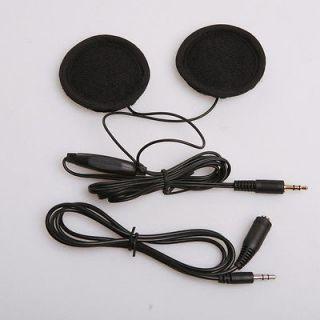Motorcycle Sports Helmet Earphones Speakers Volume Control For iPhone