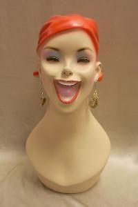 mannequin head bust vintage wig hat jewelry display # y5