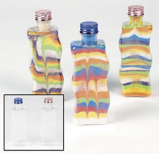 Plastic Wavy Sand Art Bottles / LOT OF 12 BOTTLES / ARTS AND CRAFTS