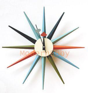 george nelson metal boutique sunburst clock 50s 60s mod