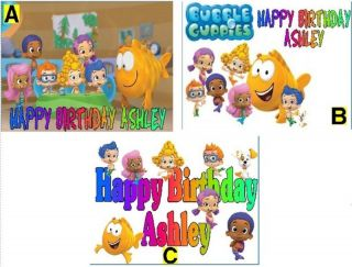 bubble guppies custom cake topper frosting sheet time left $