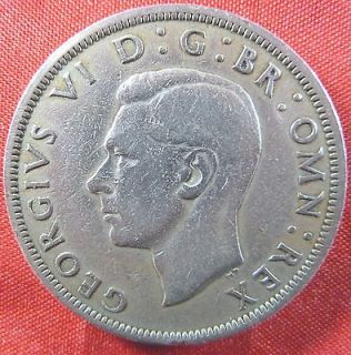 GREAT BRITAIN 1949 HALF CROWN COPPER NICKEL COIN, GEORGE VΙ,KM#879