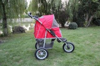 New BestPet Red Sporty Pet Jogger Jogging Dog Cat Stroller Carrier