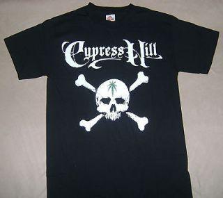 CYPRESS HILL SKULLS & CROSSBONES T SHIRT (SMALL)
