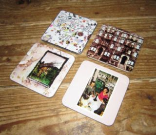 led zeppelin album cover coaster set 2 from united kingdom