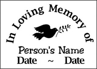 in memory of decal sticker  3 99