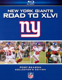NFL New York Giants   Road to XLVI Blu ray Disc, 2012, 2 Disc Set