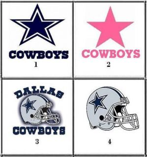 Dallas Cowboys Nail Decals Set of 20   Choose from 4 designs