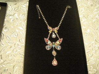 Nicky Butler FASHION JEWELRY COLLECTION DBLE BUTTERFLY Necklace Made
