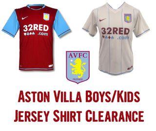 ASTON VILLA NIKE Boys Kids Junior Home & Away Jersey Shirt Soccer