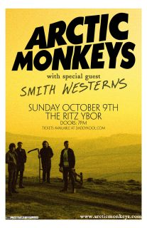 Arctic Monkeys * Original Concert Poster * with Smith Westerns * rare