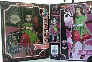 new monster high snow bite draculaura doll dress costume scarily